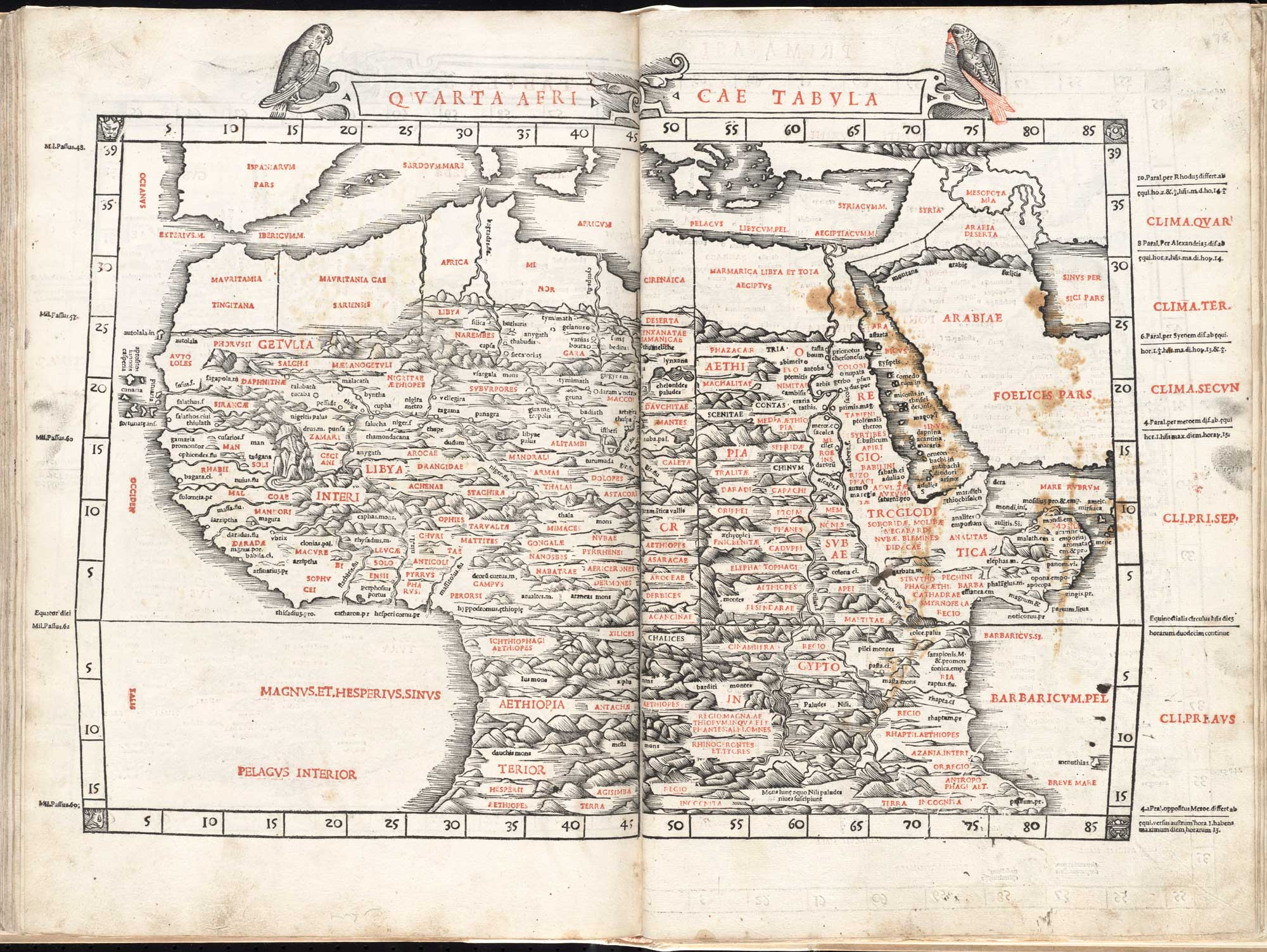 Map of northern Africa from 1511 edition of Ptolemy's Geography