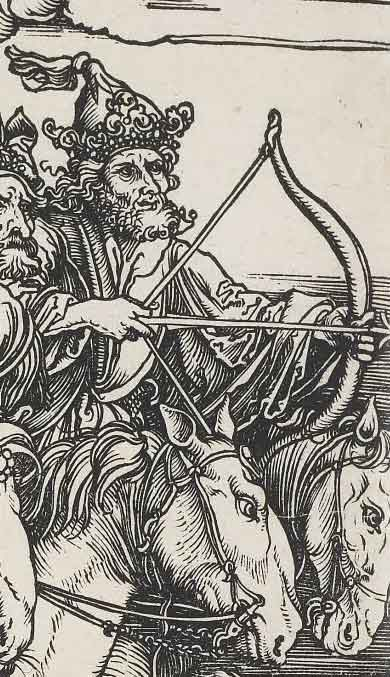 Detail of archer of the Apocalypse